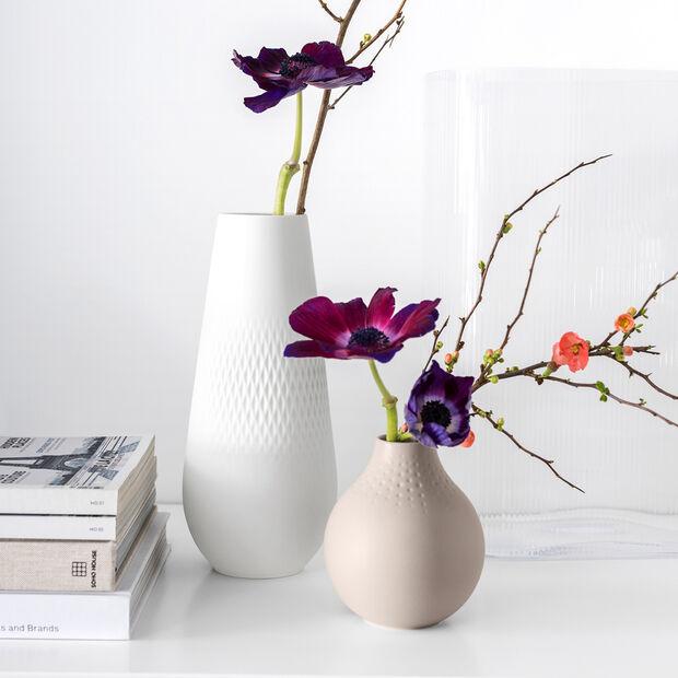 Manufacture Collier blanc Vase Carré haut 11,5x11,5x26cm, , large