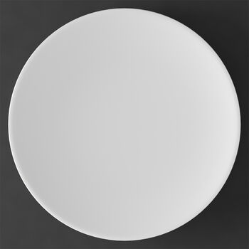 MetroChic blanc assiette de présentation et plat à tarte, diamètre 33cm, blanc