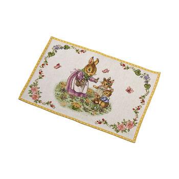 Spring Fantasy set de table Gobelin famille de lapins, 32x48cm, multicolore