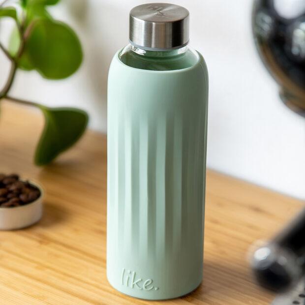 ToGo&ToStay gourde en verre, 0,5l, avec housse en silicone, vert menthe, , large