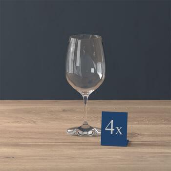 Entrée verre à vin rouge, 4pièces