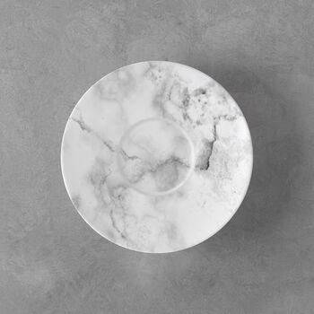 Marmory sous-tasse à café blanche, 16x16x2cm