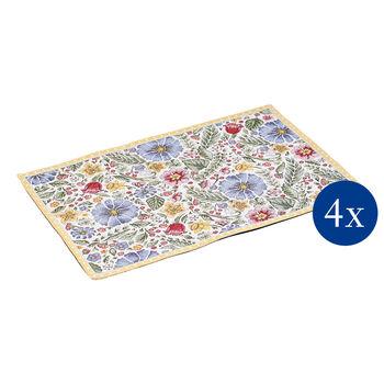 Spring Awakening set de table Gobelin, fleurs printanières, 32x48cm, 4pièces