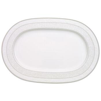 Gray Pearl plat ovale 35cm