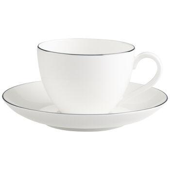 Anmut Platinum No.1 Tasse à café avec soucoupe 2pcs