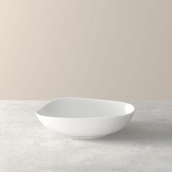 Organic White assiette creuse, blanche, 20cm
