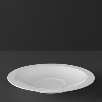 White Pearl Soucoupe tasse petit-déjeuner/bouillon 18cm