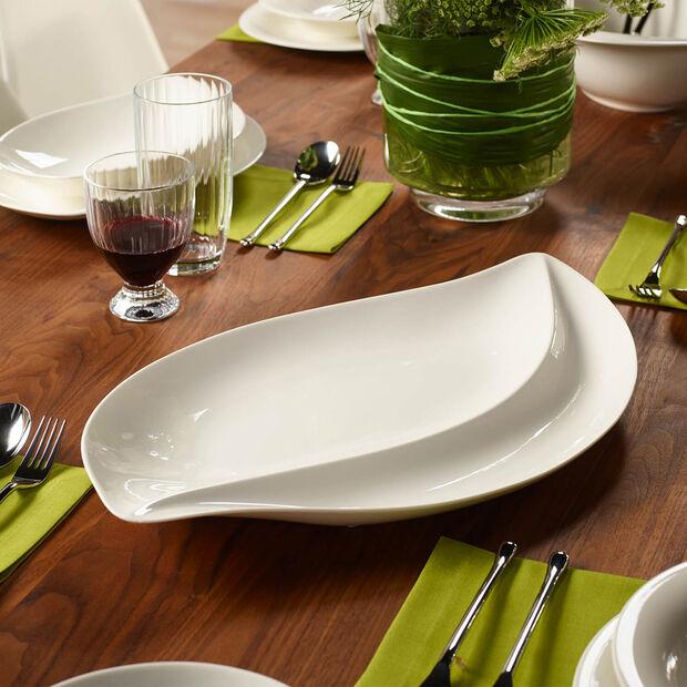New Cottage Special Serve Salad assiette de service 50x30cm, , large