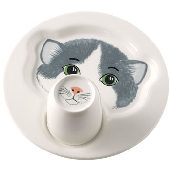 Assiette avec mug Animal Friends, chat