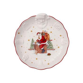 Toy's Fantasy coupe avec Père Noël en relief, blanche/multicolore, 24x25x4,6cm