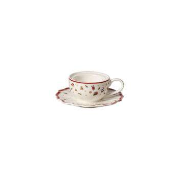 Toy's Delight Decoration support pour bougie chauffe-plat en forme de tasse à café, blanc/rouge, 9,8x9,8x4cm