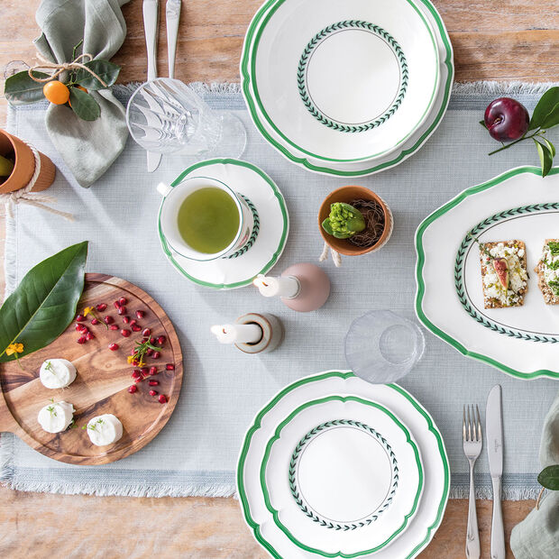 French Garden Green Line assiette plate, , large