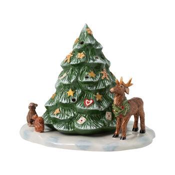 Christmas Toy's sapin de Noël avec animaux de la forêt, 23x17x17cm