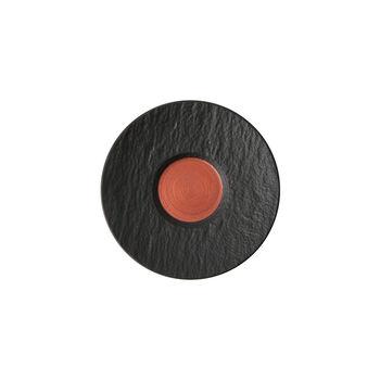Manufacture Rock Glow sous-tasse à expresso, cuivre/noire, 12x12x2cm