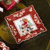 Toy's Fantasy coupe carrée motif Père Noël sur le toit, rouge/multicolore, 23x23x3,5cm, , large