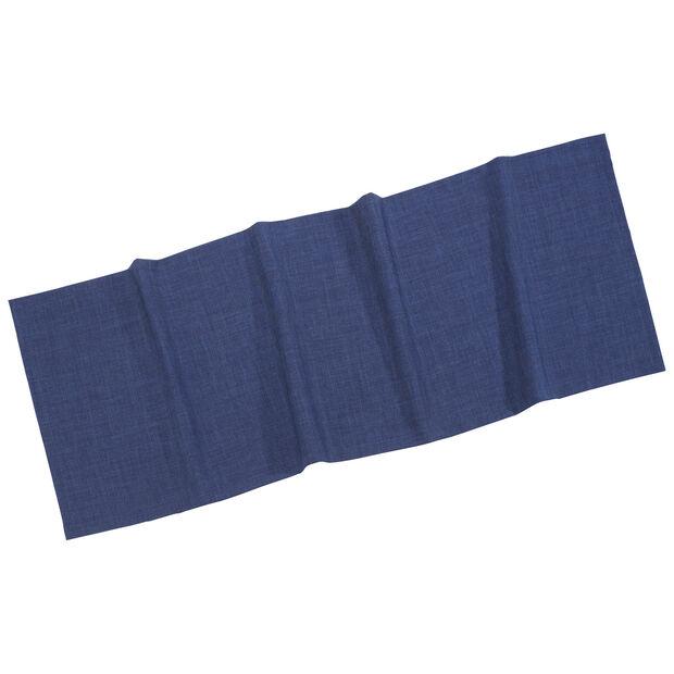 Textil Uni TREND Chemin de table bleu fon. 50x140cm, , large