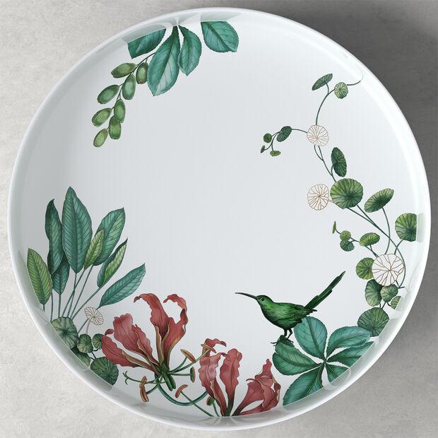 Avarua Gifts coupe à servir/décorative, 33cm, blanche/multicolore, , large
