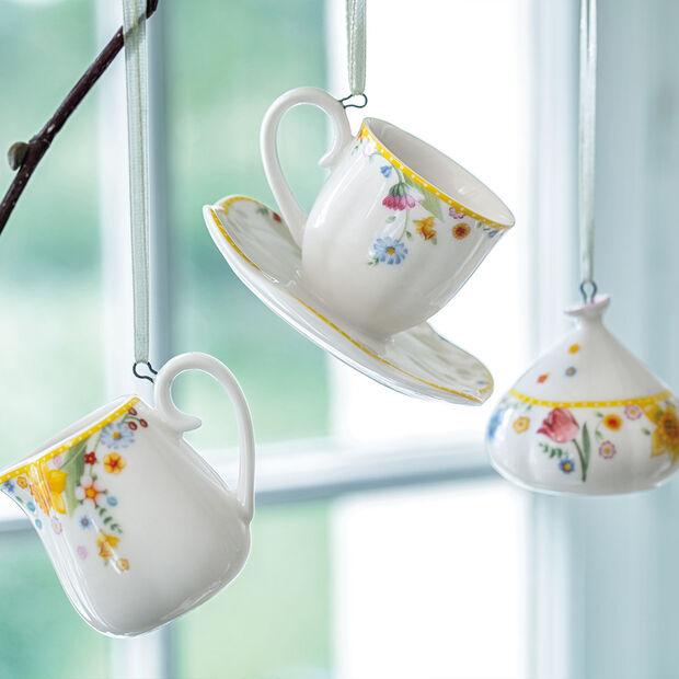 Spring Awakening ornements ensemble à café, 3pièces, jaune/multicolore, , large