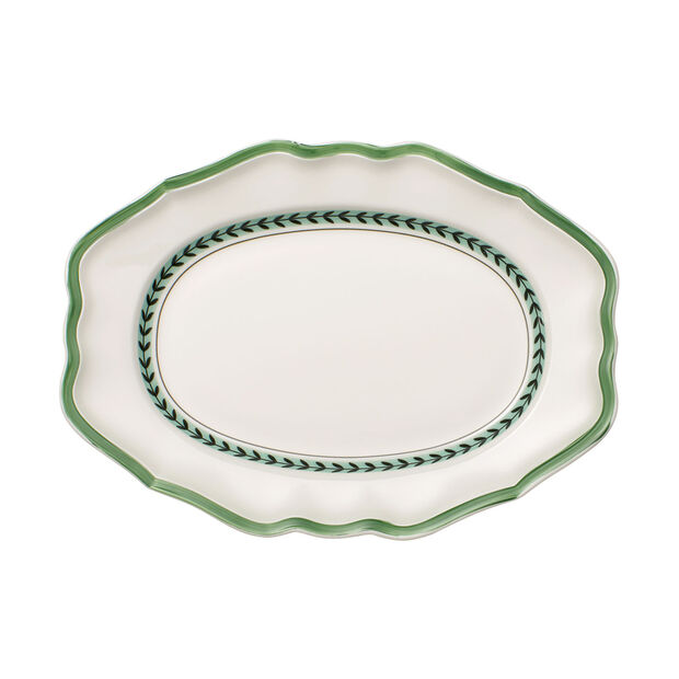 French Garden Green Line plat ovale, , large