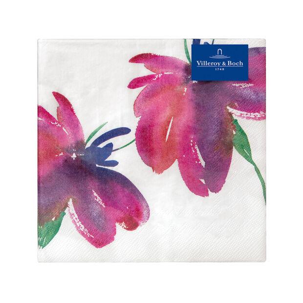 Serviettes en papier Artesano Flower Art Lunch, 20pièces, 33x33cm, , large