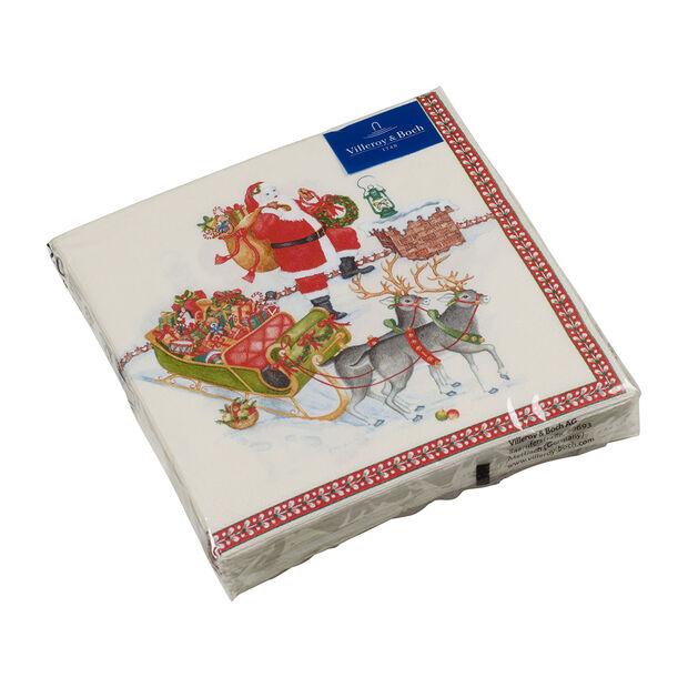 Winter Specials serviette de table Père Noël, multicolore, 20pièces, 33x33cm, , large