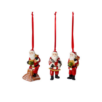 Nostalgic Ornaments Ornements Père Noël, ensemble 3 pièces 9cm
