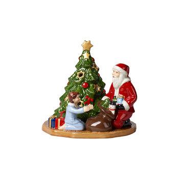 Christmas Toy's photophore distribution des cadeaux, multicolore, 15x14x14cm