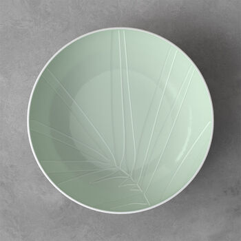 it's my match plat creux de service Leaf, 26x6,5cm, vert minéral