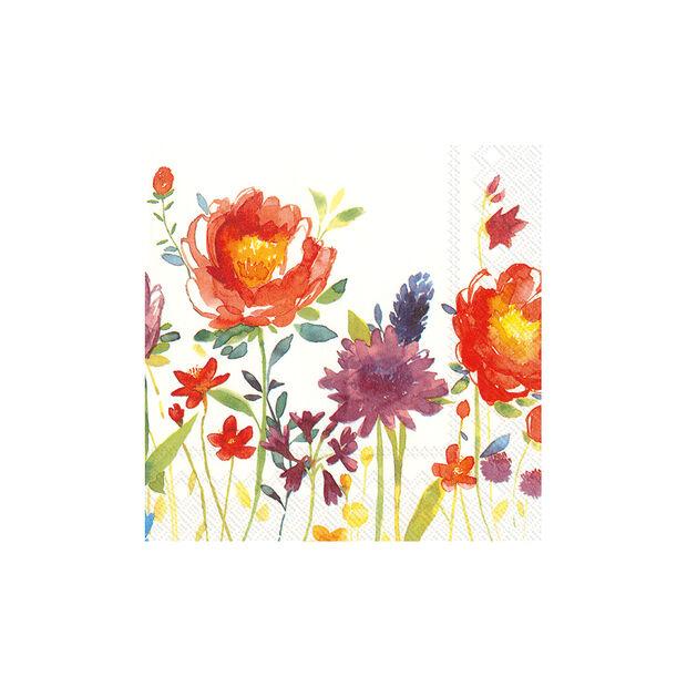 Serviettes en papier Anmut Flowers, 20pièces, 33x33cm, , large