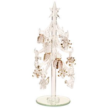 Winter Collage Accessoires Sapin en verre avec décorations 8cm
