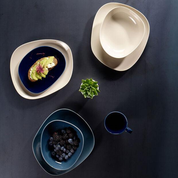 Organic Dark Blue assiette à dessert, bleu foncé, 21cm, , large