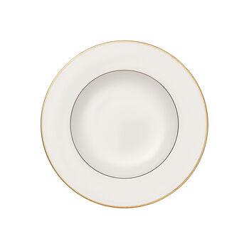 Anmut Gold assiette creuse, diamètre 24cm, blanc/or