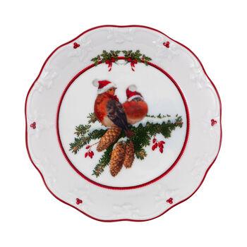 Toy's Fantasy petite coupe oiseaux, multicolore/rouge/blanc, 17x17x3cm