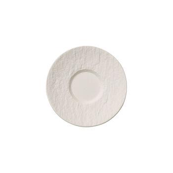 Manufacture Rock Blanc sous-tasse à moka/expresso, 12cm