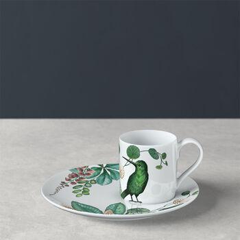 Avarua tasse à moka/expresso avec sous-tasse, 80ml, blanche/multicolore