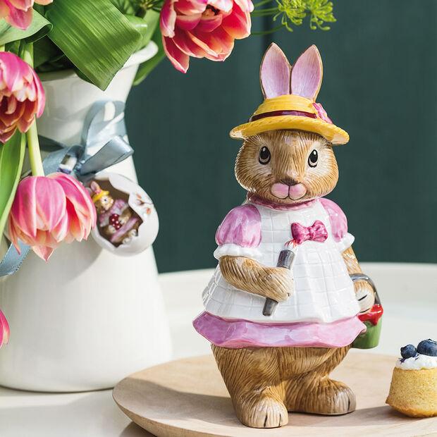Bunny Tales grande figurine Anna, 10,5x11x22cm, rose/marron, , large