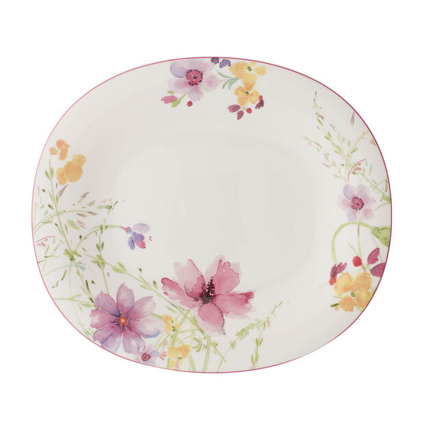 Mariefleur Basic assiette plate ovale, , large