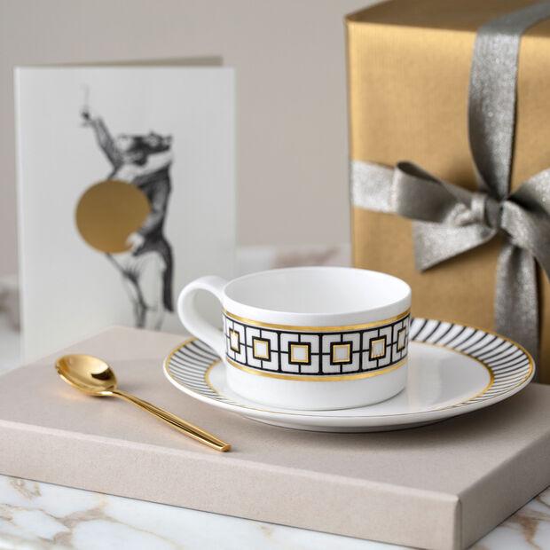 MetroChic tasse à thé, 230ml, blanc-noir-or, , large