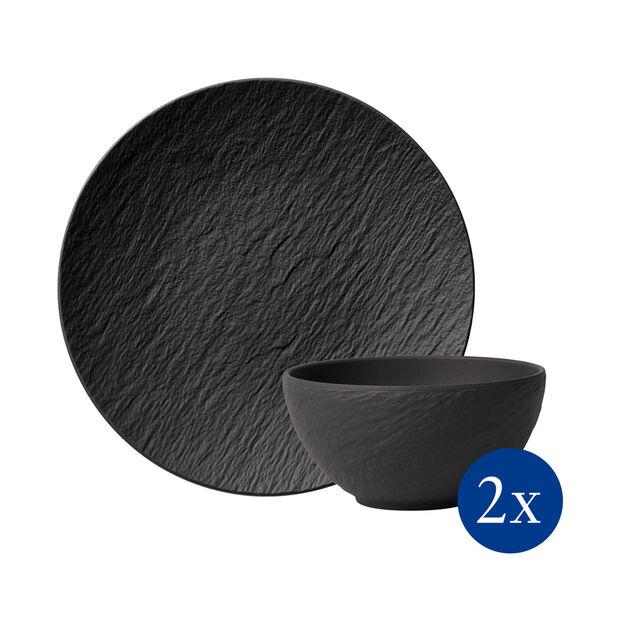 Manufacture Rock ensemble de vaisselle, 4pièces, pour 2personnes, , large