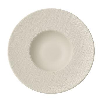 Manufacture Rock blanc Assiette à pâtes 28x28x5cm