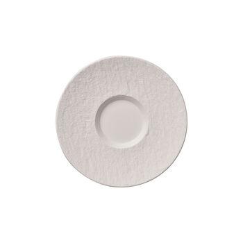 Manufacture Rock blanc Soucoupe tasse café au lait 17x17x2cm