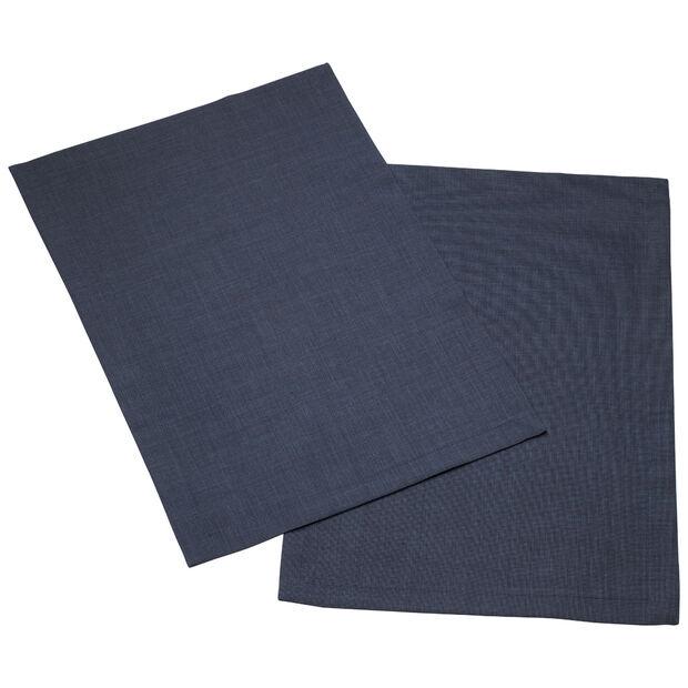 Textil Uni TREND Set de table vintage bleu Set 2 35x50cm, , large