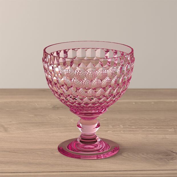 Boston coloured Coupe à champagne/à dessert rose 125mm, , large