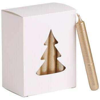 Essentials Bougies Bougie noel dore Set 24 8x10,5x5,5cm