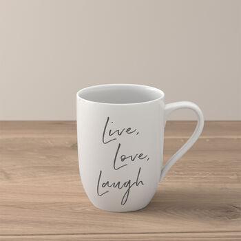 Statement mug «Live Love Laugh»