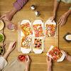 Pizza Passion plateau party rectangulaire, , large