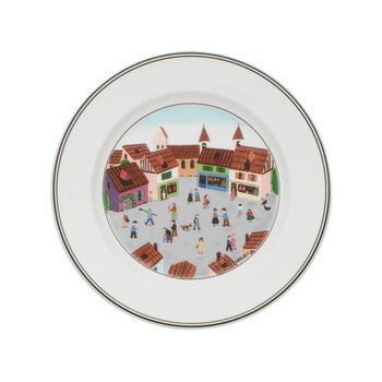 Design Naifassiette plate motif village