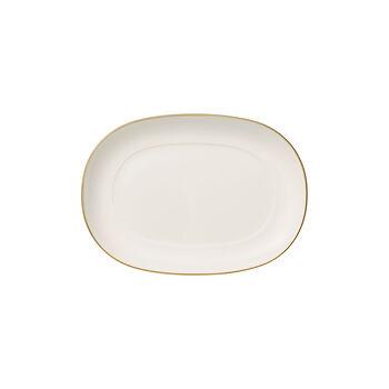 Anmut Gold coupelle à accompagnement, longueur20cm, blanc/or