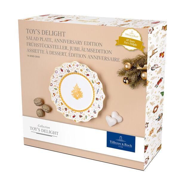 Toy's Delight assiette à dessert, édition anniversaire, multicolore/or/blanc, , large