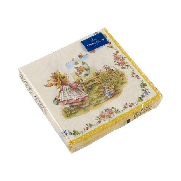 Spring Fantasy serviettes de table, lapins, 33x33cm, 20pièces, , large
